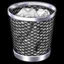 ファイルが消せない時はゴミ箱アイコン画像